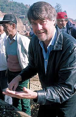 In his element:  Pala President, Bill Larson, buying gems in Mogok, Burma. (Photo: Edward Boehm)