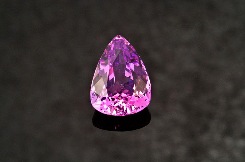 Purple-pink zoisite.Merelani, Tanzania, 4.28 carats, 12.18 x 8.89 x 5.61 mm.