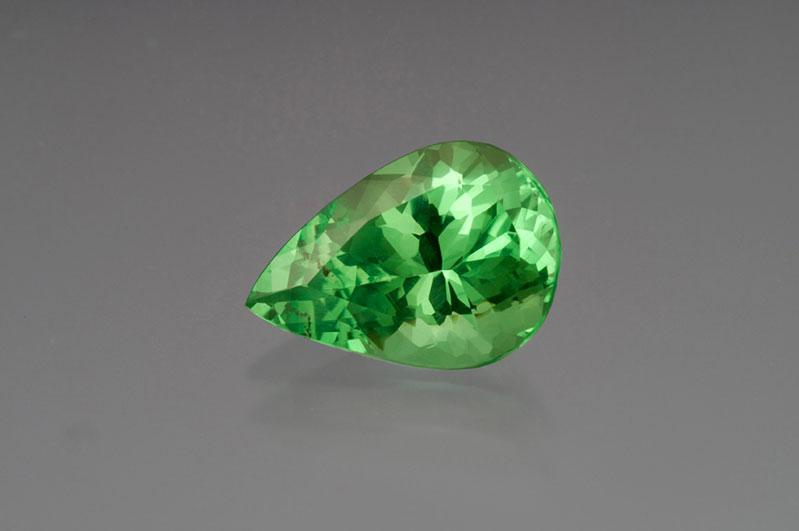Mint-green grossular.Merelani, Tanzania, 6+ carats.