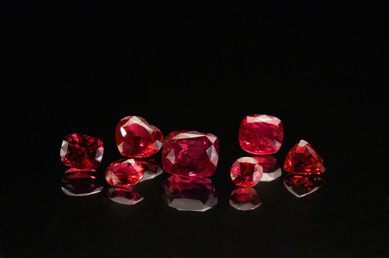 A selection of rubies from Winza available from Pala International.