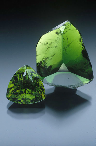 Chrome tourmaline, Tanzania, 7.63 ct and 2.4 cm high, Collection of William Larson.