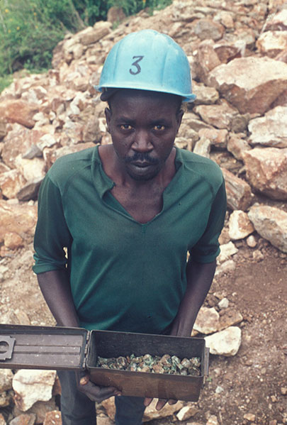 A day's production at the Lualenyi Mine, late 1970s.
