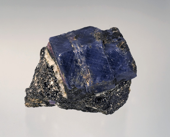Sapphire crystal in matrix, Betroka Department, Madagascar, 8 cm.