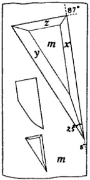 Fig. 1.    Showing position of etch figures on unit prism face (110).