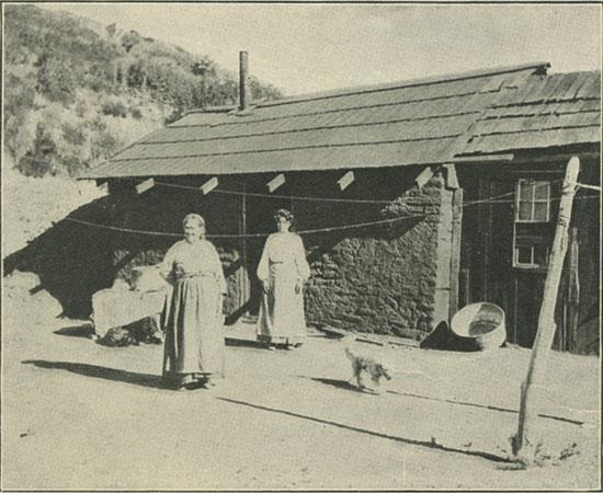 A mountain ranch house