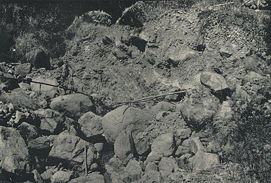 Typical jadeite mine in the Mogaung area of Burma