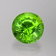 Pinch insurance. A natural bright green peridot from Burma, 12.93 carats, Inventory  #4994 . (Photo: Mia Dixon)