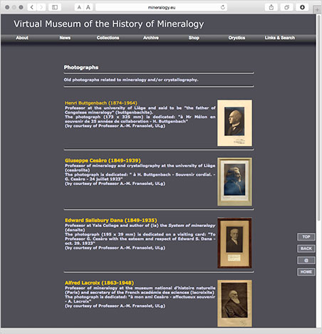 Need a portrait of Alfred Lacroix, professor of mineralogy at the Paris museum we profile  below ? Look no  further  than the Virtual Museum of the History of Mineralogy.
