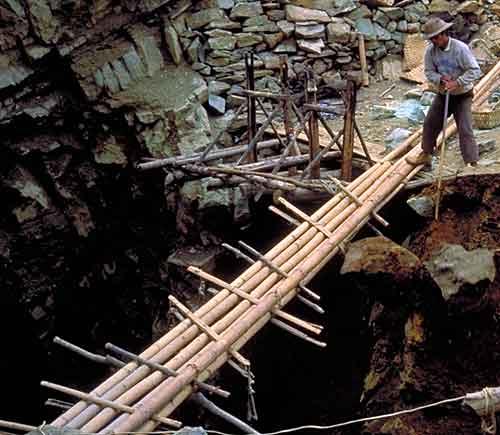 No   OSHA   in Burma. A peridot miner at Pyaung Gaung, in Burma's Mogok Stone Tract. (  Photo:   Richard Hughes  )