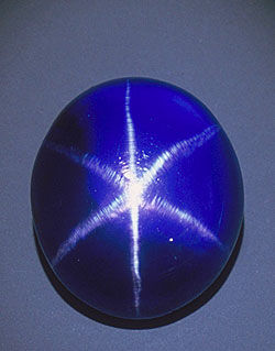 The above stone is a fine example of a star sapphire. It features a sharp star and, most importantly, an intense blue color.
