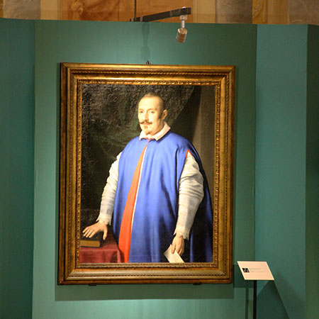 Blues Brother?  Portrait of Monsignor Ottaviano Prati by Giovan Battista Salvi da Sassoferrato (1609–1685), although we must say it looks a lot like Gian Carlo Parodi, below… Sassoferrato is perhaps best  known  for his  The Virgin in Prayer . Prati's apparently reversible vestment, above, if it indeed was employed for liturgical purposes, makes good use of a single garment. But,  according  to the  Catholic Encyclopedia , since the time of Pope Pius V (1504–1566) blue was used only in Spain. Nonetheless, Sassoferrato's red, white and blue recall the colors of the above-referenced  Virgin ; both paintings are said to have been completed in about 1650. That's an awful lot of lapis lazuli. (Portrait: Galleria Nazionale d'Arte Antica di Palazzo Barberini, Rome; Photo: S. Tavernier)