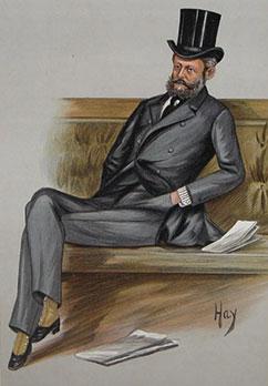 Baron Ferdinand de Rothschild by Hay (not identified), Vanity Fair, 15 June 1889.