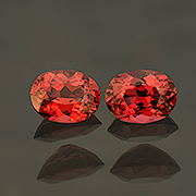 Dapper duo.  Know of a Santa in need of cuff-links? This pair of natural orangy-red spinels from Burma might be just the ticket. Inventory  #22276 . (Photo: Mia Dixon)