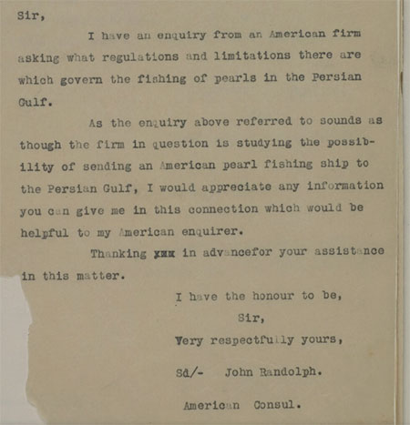A 05 Jun 1929 letter to the British Political Resident in the Persian Gulf. Just one document from a massive  digitization effort by the Qatar National Library in partnership with the British Library.