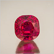 Red-y?  A superb natural Burma ruby, 2.72 carats. Inventory  #22003 . (Photo: Mia Dixon)