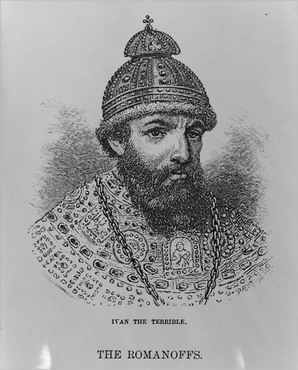 Ivan IV , Czar of Russia, wood engraving in Harper's Monthly, 1883, v. 67, p. 99.
