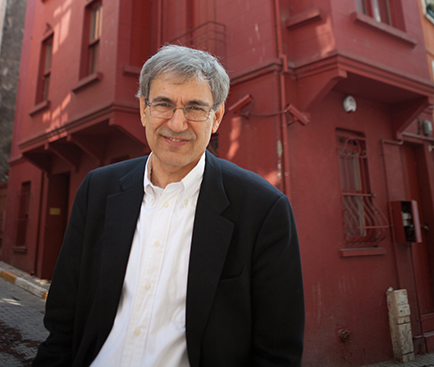 Orhan Pamuk  outside his own  Museum of Innocence . (Photo courtesy The Museum of Innocence)