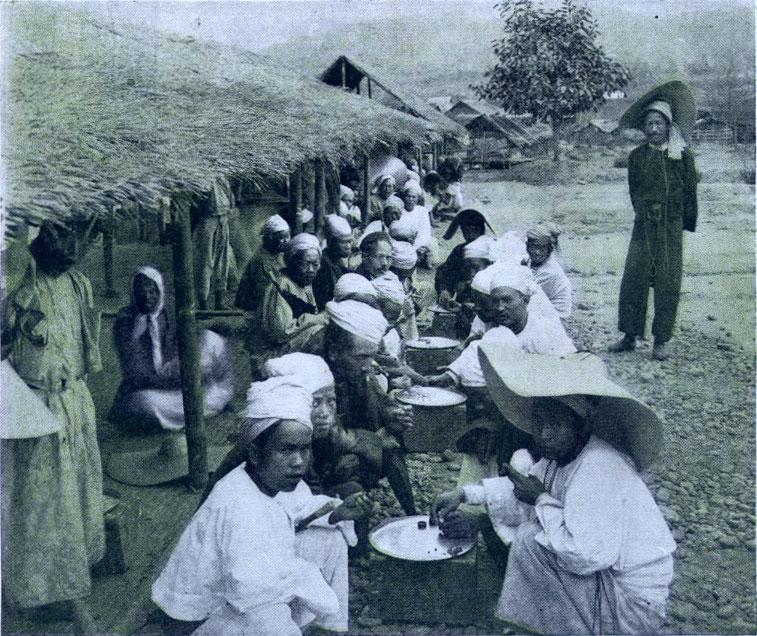 The native ruby market at Mogok Burmah.