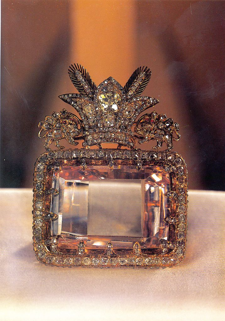 """""""The Sea of Light""""  ( Darya-i Noor ) Diamond from the collection of the national jewels of Iran at Central Bank of Islamic Republic of Iran."""