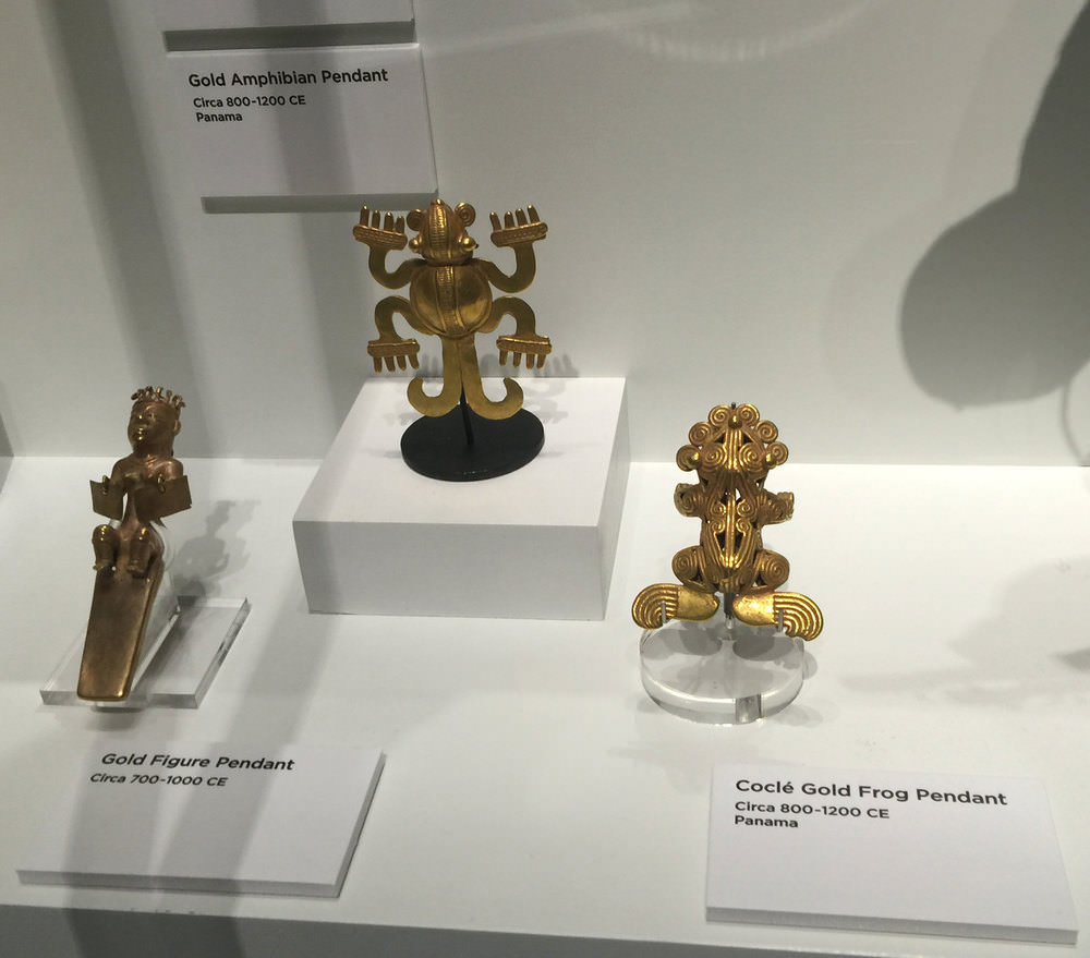 From Nancy and Randy Best.    Besides being collectors, the Bests are philanthropists and patrons of the arts, including the Perot Museum. Above, old gold figurines from  Eye of the Collector . (Photo: Will Larson)