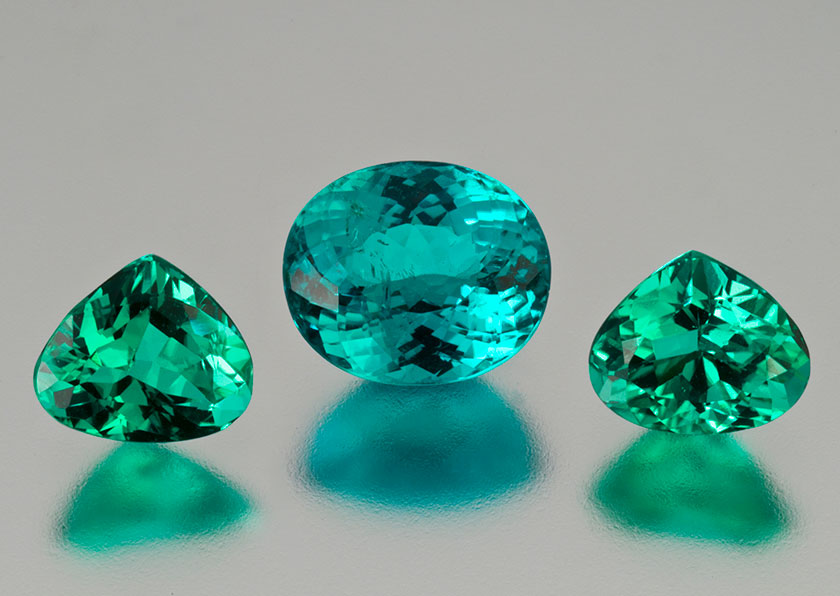 Brazilian Paraiba tourmaline. Pala International. (Photo: Mia Dixon)