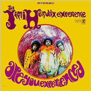Purple haze. Members of The Jimi Hendrix Experience, from left, Noel Redding, Hendrix and Mitch Mitchell. The U.S. version of this album, pictured above, was released at the end of the so-called Summer of Love, 1967.
