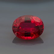 Natural red spinel  from Mogok, 2.25 ct, Inv.  #23620 . (Photo: Mia Dixon)