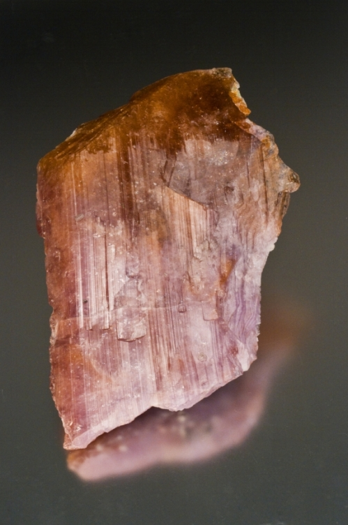 Axinite from Tanzania: 15.5 x 8.9 x 13.5 cm. (Photo: Mia Dixon)