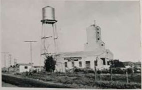 Plant of the Campo Milling Corporation, at Campo, where feldspar, limestone, and other minerals from the southeastern part of the County are refined.