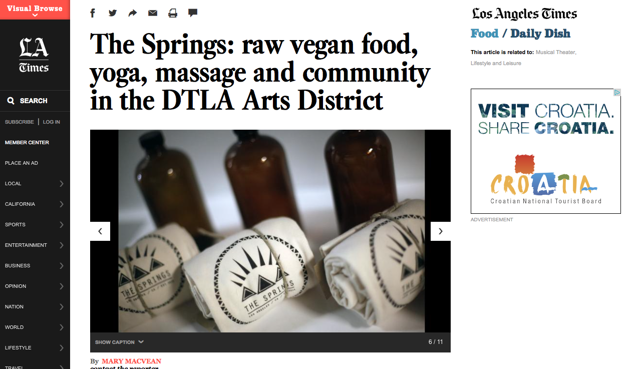 L.A. Times Feature