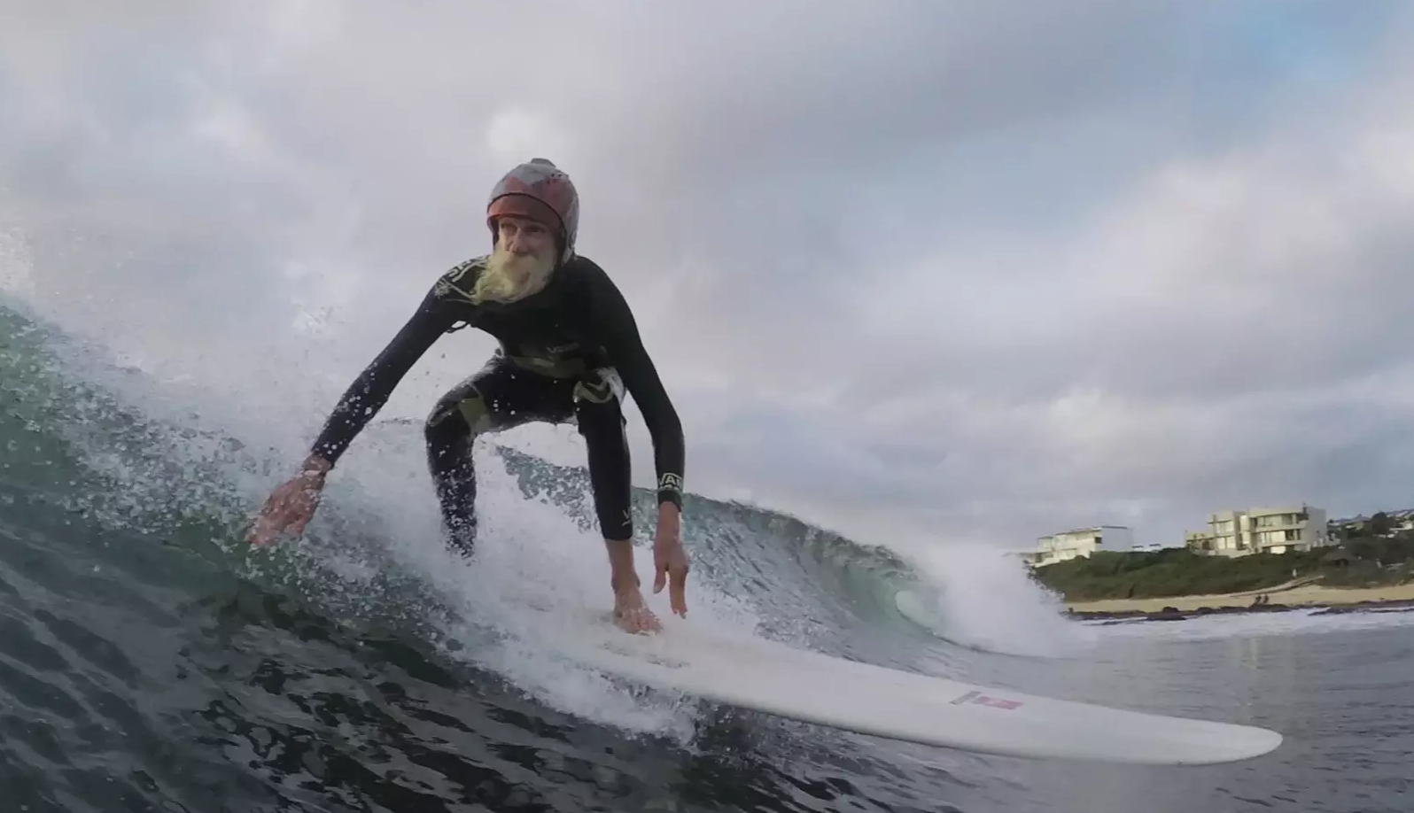 BRUCE GOLD: LAST OF THE GREAT SURFING HIPPIES  Director: Anders Melchior  Running time: 9 mins   Bruce Gold has managed to survive for almost 50 years in Jeffreys Bay without having a job. He is among the last of a dying breed of   surfers  who have dedicated their entire lives to riding waves.