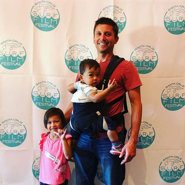 Our cutest guests this evening (and maybe of the whole festival)! Gracie, Ethan and dad Mark. We ❤️ surf stoked families!!