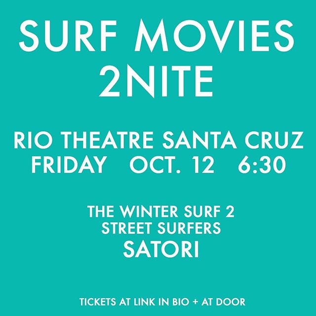 Tonight's 6:30 pm screening will showcase 'The Winter Surf 2: Passion' from South Korea, 'Street Surfers' from Cape Town, South Africa and feature film 'Satori', also from South Africa. Cold waves, big waves, warm water, longboards, shortboards, fins free, no boards at all — we love  sharing films with amazing stories from different perspectives. . We'll be raffling off @yeti coolers, @oneillsurfshop wetsuits, @dblanc sunglasses, @surfears earplugs, @wavesandfades_sc gift packs, @bldgactive first aid spray, @kalabrandmusic ukes, @olachicasc bikinis and clothing, @bonafidewetsuits custom wetsuit, @pleasurepizzasc gift certificates, @nomadixco towels, @sawyersupply prize packs and @theseea gift certificate . Raffle ticket included with your screening ticket purchase! . SEE YEW THERE! 🌊🎥