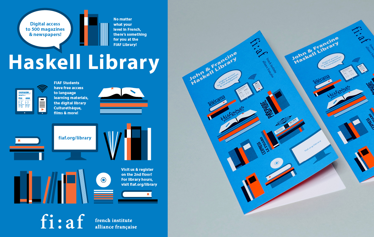Library Poster and Brochure
