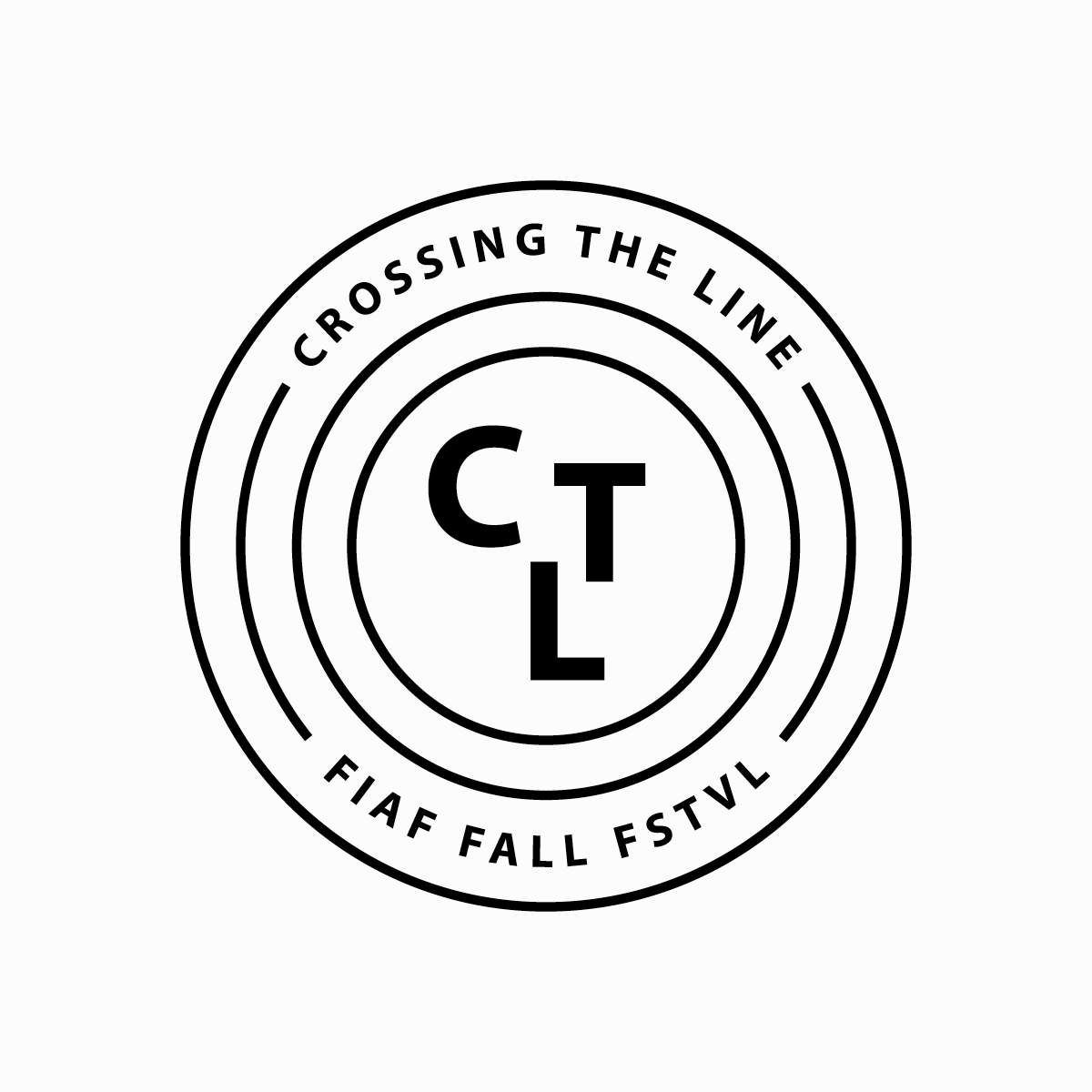 Logo & branding for annual fall arts festival  Crossing the Line . 2013, New York City, USA.  View Project