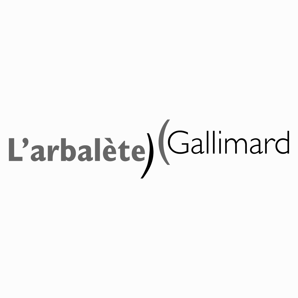 Logo of a French poetry collection for the House Publisher  Gallimard . 2006, Paris, France.