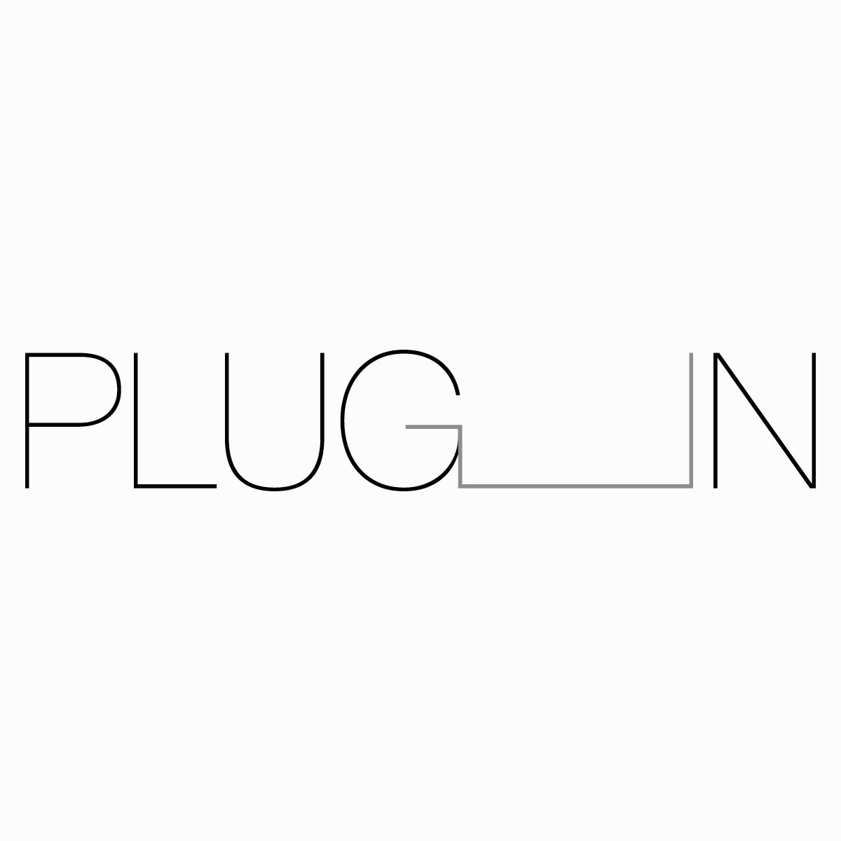 Logo & visual identity for  Plugin , a tech repair company. Design under  Ich&Kar  Art direction. 2008, Paris, France.
