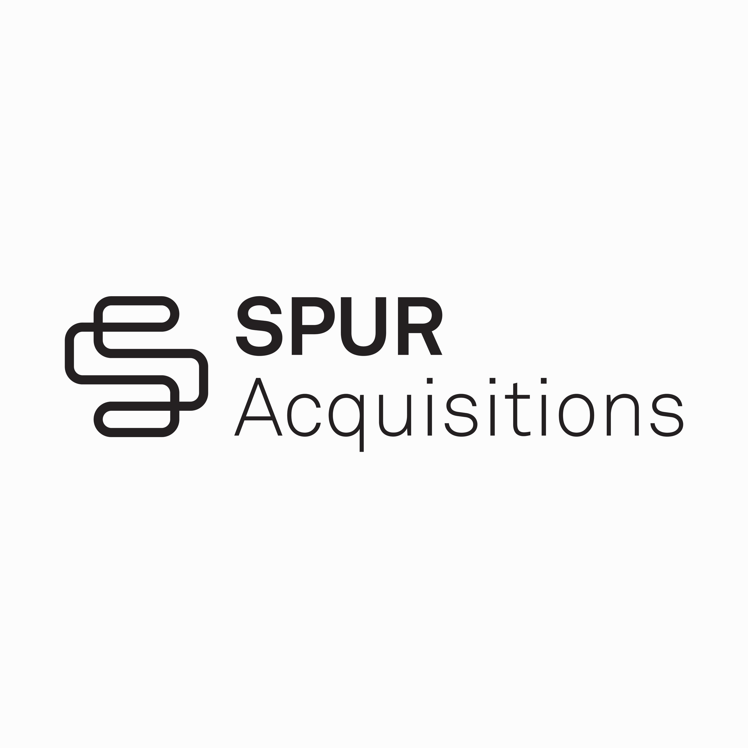 Logo for  Spur Acquisitions , company providing the highest value exit/acquisition platform for all stakeholders. 2017, New York, USA.