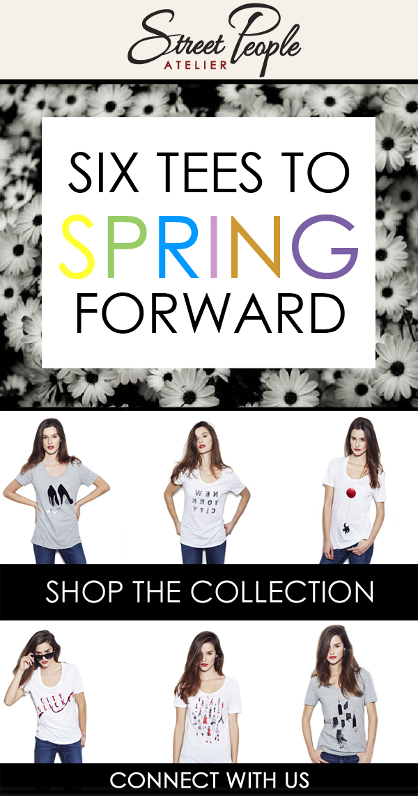 Email: Six tees to spring forward