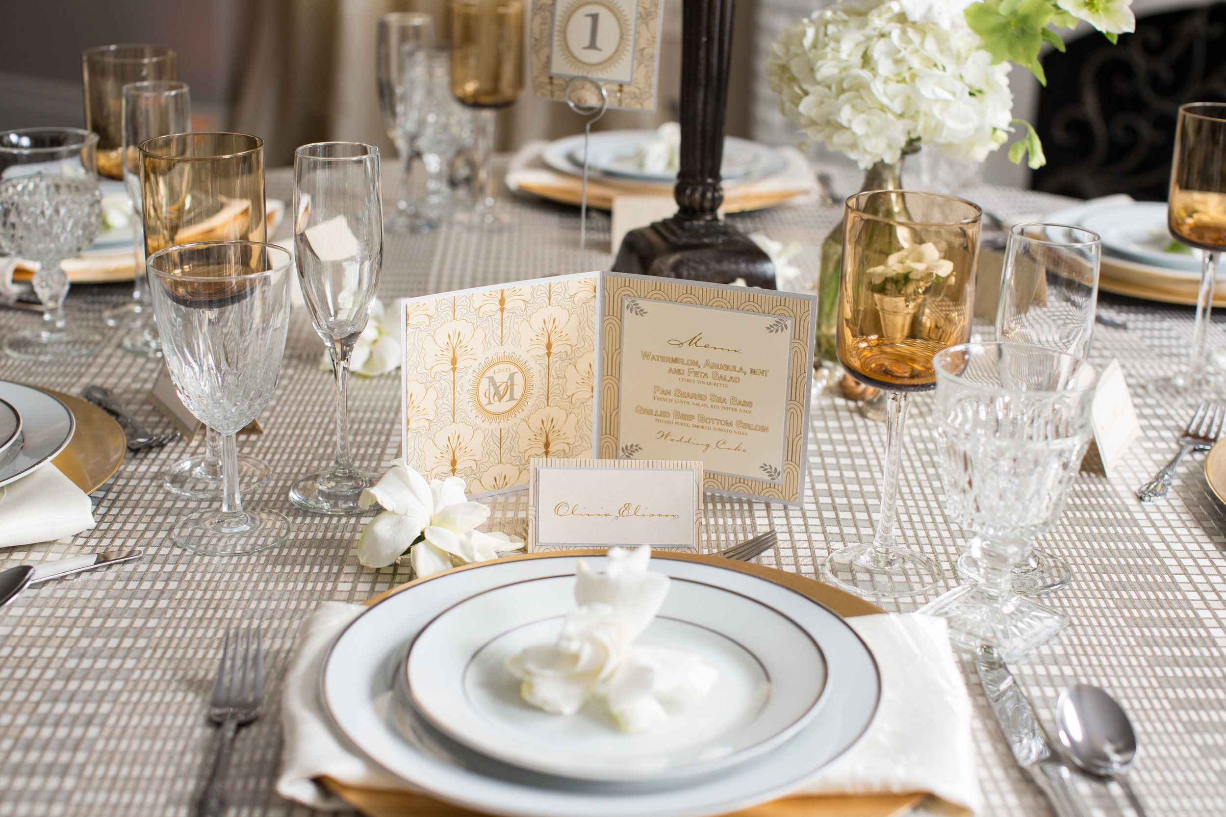 Great Gatsby Shoot | Tablescape | Rochelle Wilhelms Photography