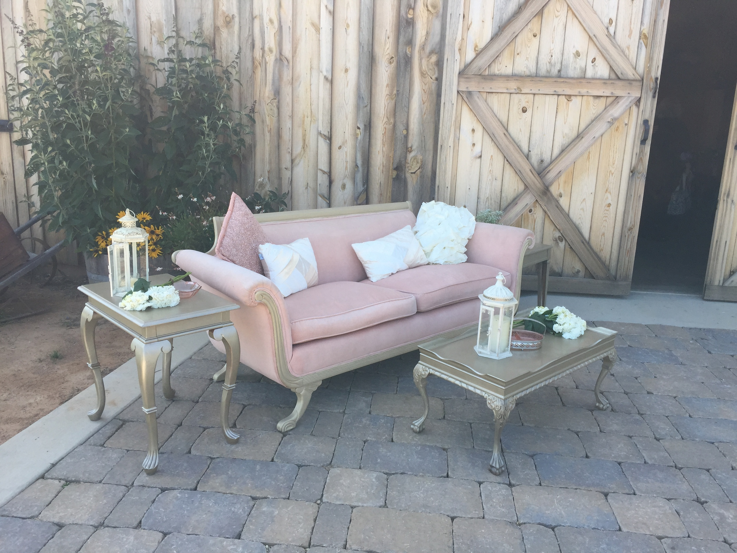 Dogwood Party Rentals Vintage Blush Lounge