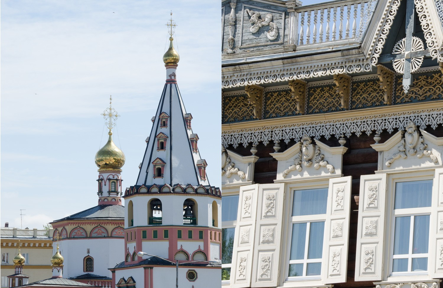 Churches and Wooden Houses in Irkutsk