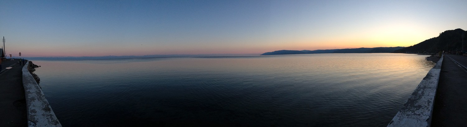 On the Shores of Lake Baikal in Listvyanka, Russia in June