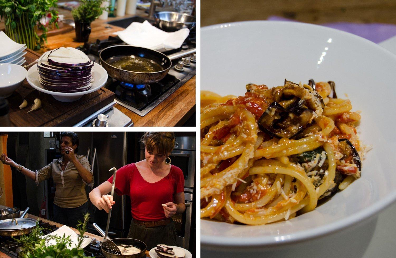 Venice cooking class — Pasta a la Norma