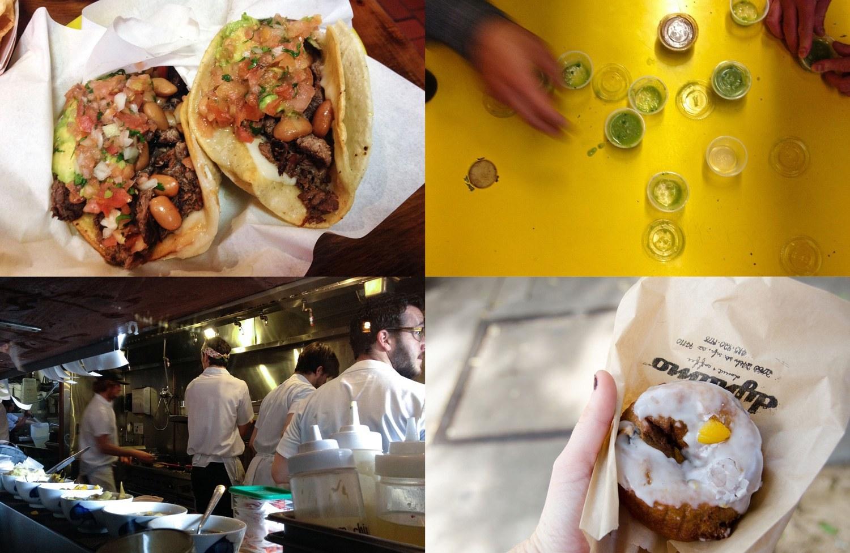 Favorite eats from La Taqueria, El Farolito, Wise Sons, and Dynamo Donuts