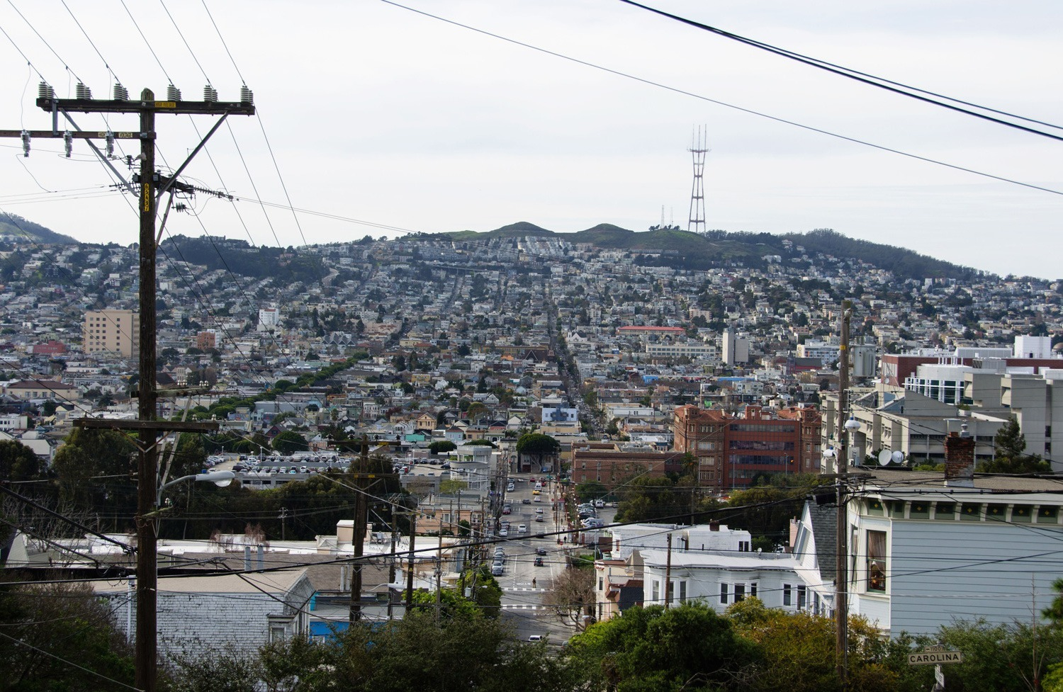 A view of 24th street from Potrero Hill