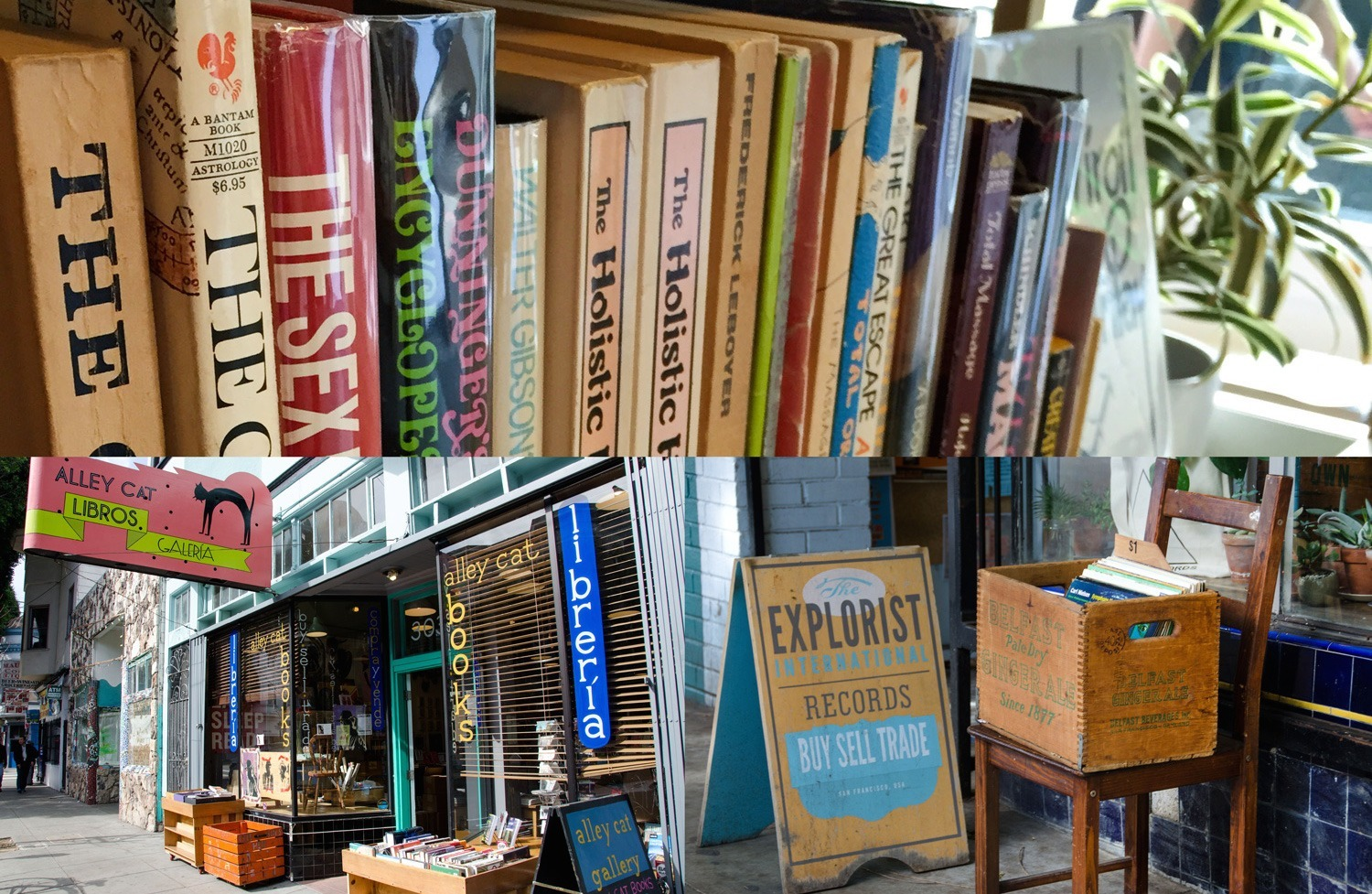 Bookstore Alley on 24th Street