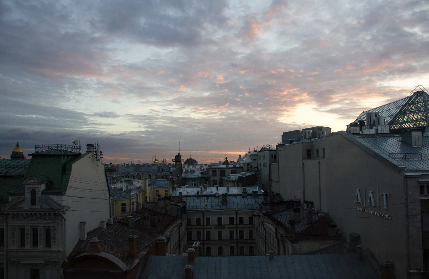 The view from our hotel room alongside the Nevsky Prospekt