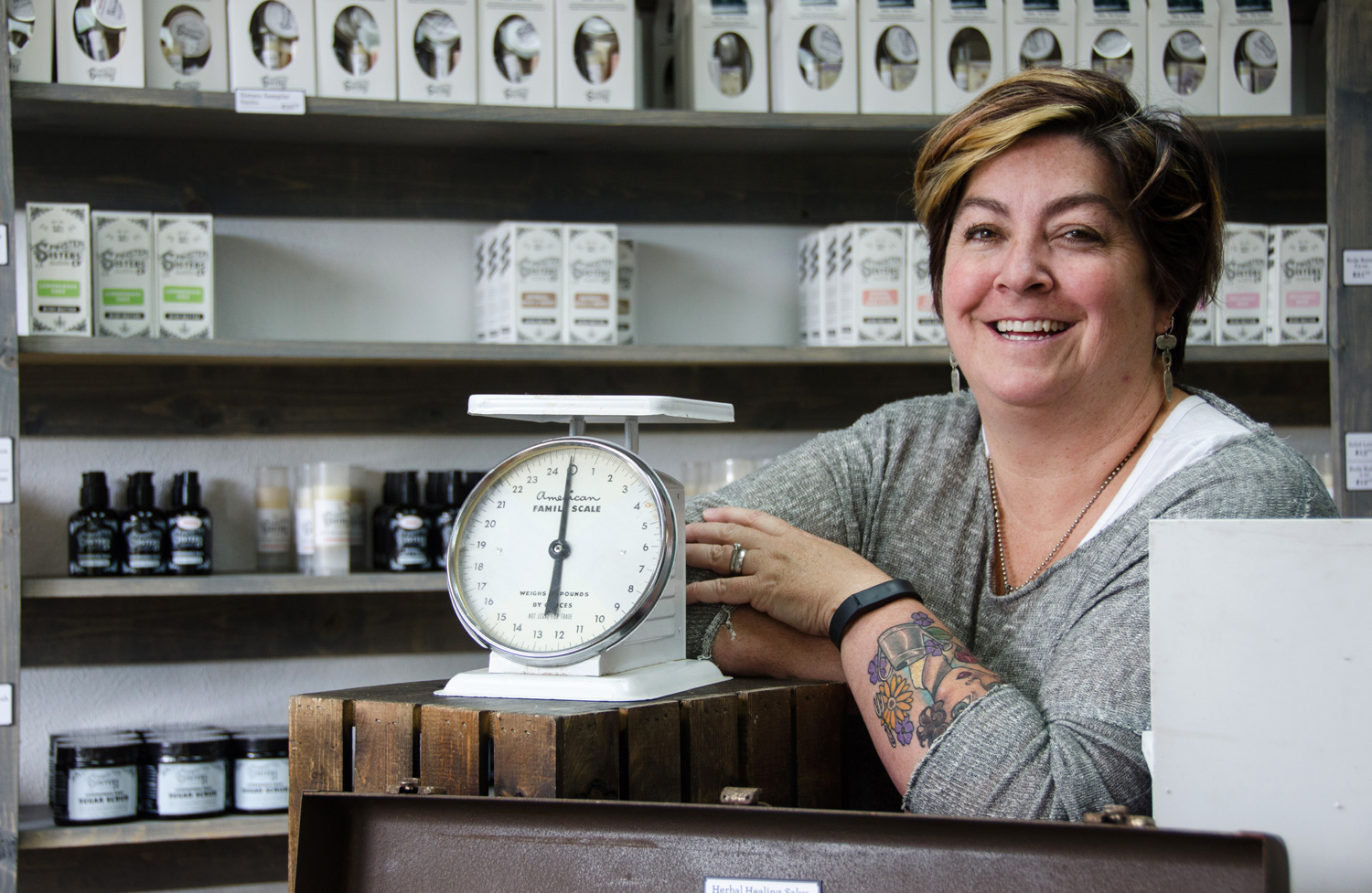 Kelly in the Spinster Sisters store in Golden, Colorado (via Small Things in Big Numbers)