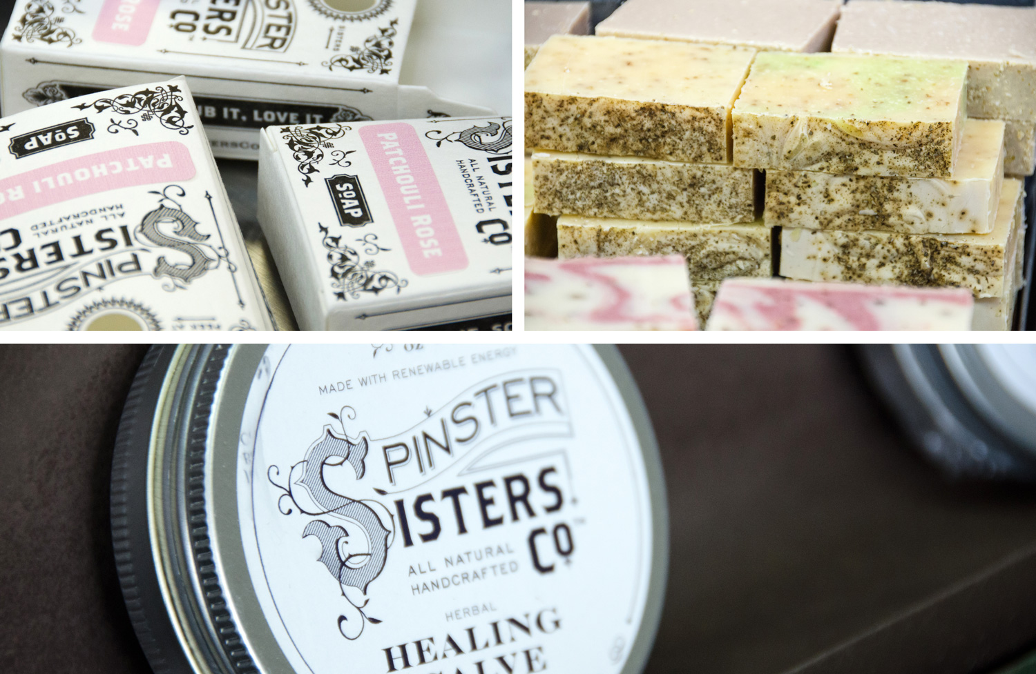 Spinster Sisters products (via Small Things in Big Numbers)
